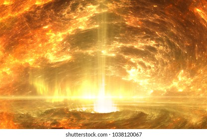 Inner core of earth. 3D illustration