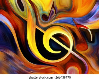 Inner Melody series. Design composed of colorful musical shapes as a metaphor on the subject of spirituality of music and performing arts