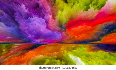 Inner World series. Design composed of digital colors as a metaphor on the subject of Universe, Nature, creativity and imagination