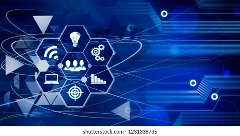 Innovation Computer Data Business Technology future connection Marketing concept Background