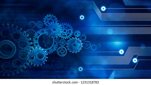Innovation Computer Data Cogs Technology,Training,Business concept ideea background conection