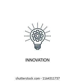 innovation concept line icon. Simple element illustration. innovation concept outline symbol design from success set. Can be used for web and mobile UI/UX