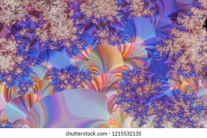 Inorganic Psychedelic Life - Parallel World - Astral Flower - Abstract Fractal Mystic Background
