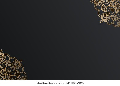 Inovative Line Art Work with Black and Golden Color Background