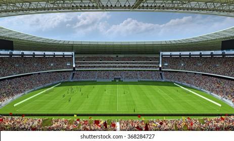 inside the football stadium