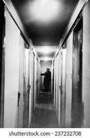 Inside the Hindenburg Airship Interior corridor of the passenger cabin March 17.