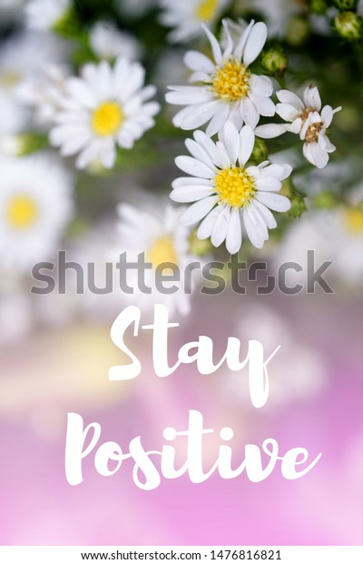 inspiration motivational life quotes on flowers stock illustration