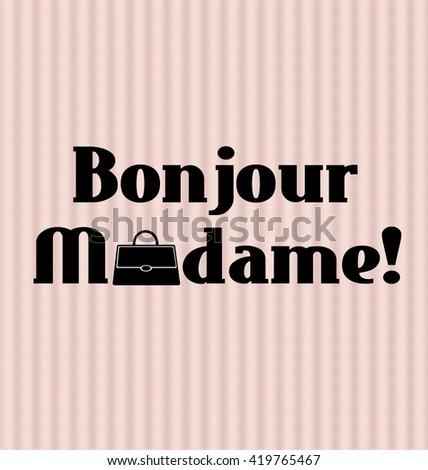 Inspirational Good Morning Poster French Elegant Stock Illustration