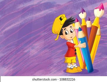 The inspirational illustration - back to school - art training - drawing good for children 2