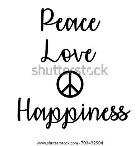 Inspirational Mindful Quote Peace Love Happiness Stock Illustration Delectable Quote About Peace And Love
