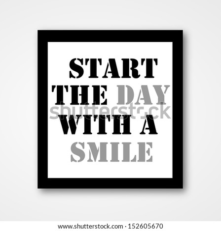 Inspirational Motivating Quote On Wall Frame Stock Illustration ...