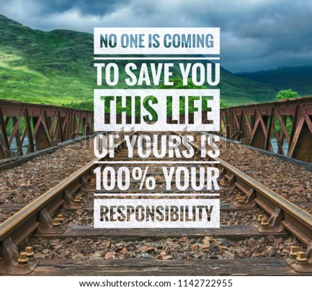 Inspirational Motivating Quotes On Nature Background Stock