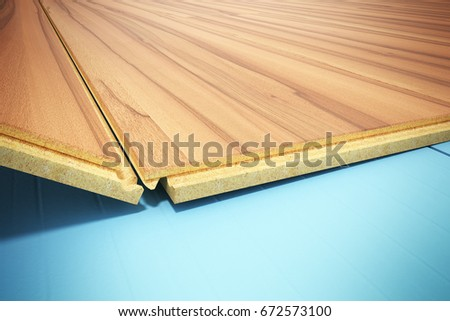 Installing Wooden Laminate Flooring Insulation Soundproofing Stock