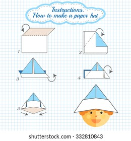 How To Make An Easy Origami Hat - Folding Instructions - Origami Guide | 280x260