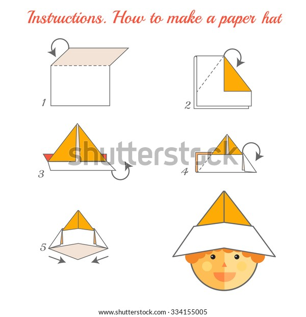 How To Make a Paper Hat - DIY Origami Cap Making Simple & Easy ... | 620x600