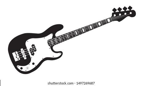 instrument bass vintage for design