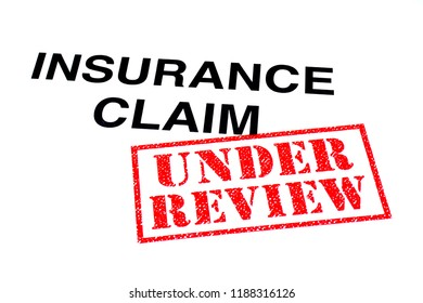 Insurance Claim heading stamped with a red UNDER REVIEW rubber stamp.