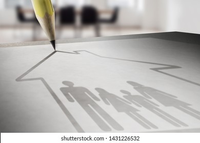insurance and family protection - 3D rendering