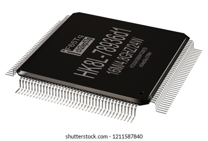 Integrated circuit or lowpass micro chip and new technologies on isolated. Computer parts coprocessor integral IC component digital signal processor. CMOS coprocessor microprocessors 3d rendering.