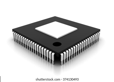 Integrated Circuit on white background