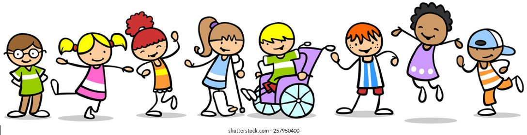 Integration of different children with disabilities with other kids