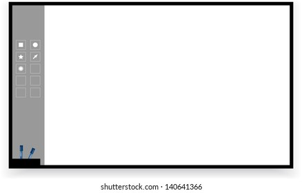 Interactive board isolated on white background (raster illustration)