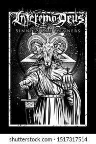 InteremoDeus Sinners Are Winners Baphomet Satanic Pentagram Occult