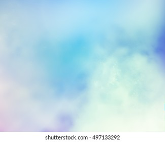 Interesting mysterious abstraction in soft turquoise and blue colors