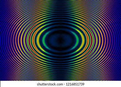 Interference and Diffraction Appearance - Coherent Radial Wave Moire Abstract Iridescent Background