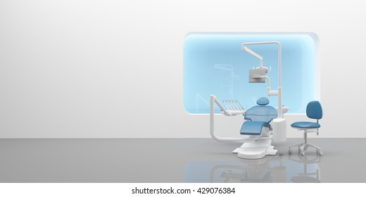 Interior 3d rendering Dental clinic for your art work