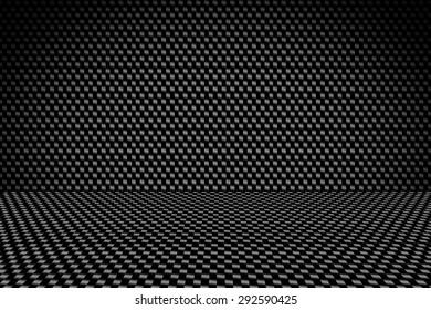 interior background of carbon fiber texture