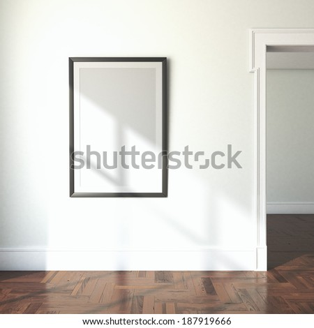 Royalty Free Stock Illustration Of Interior Blank Frame Doorway