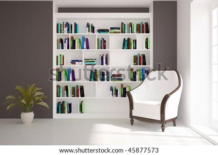 interior book self classic armchair stock illustration royalty rh shutterstock com