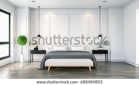 Interior Cozy Bedroom Black White Modern Stockillustration 48 Custom Black And White Modern Bedroom Decor Collection