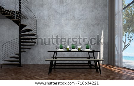 Interior Design Dining Room Dining Table Stock Illustration Extraordinary Dining Room Interior Designs Model