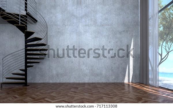 Interior Design Empty Room Living Room Stock Illustration 717113308