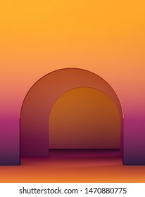 interior design for geometric concept design/ 3d illustration,3d rendering
