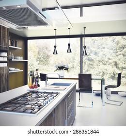 Interior design - Kitchen 3D render