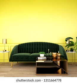 interior design for living area or reception with grey carpet , armchair,plant,cabinet on marble floor background 3d