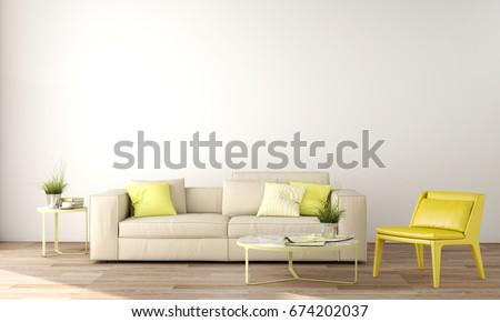 Interior Design Living Area Sofa Table Stockillustration 674202037