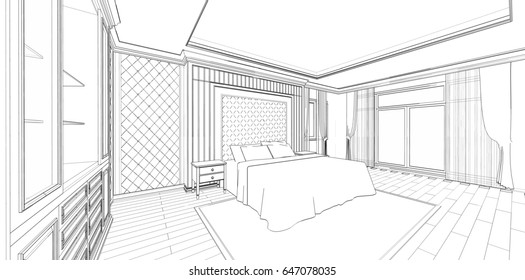 sketch of a bedroom images stock photos vectors shutterstock rh shutterstock com bedroom design sketchup bedroom design sketchup