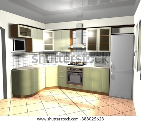 Modern Kitchen Interior Design 3 Simple Decorating