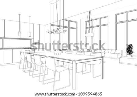 Royalty Free Stock Illustration Of Interior Design Modern Loft