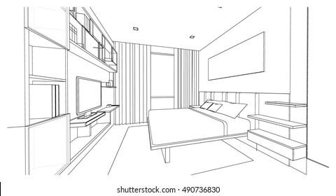 Interior design sketch images stock photos vectors for Home design 3d professional italiano gratis