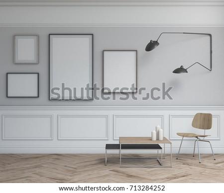 Interior Design Simple Scene Frames Modern Stock Illustration ...