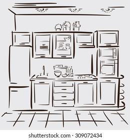 Hand Draw Interior Images Stock Photos Vectors Shutterstock