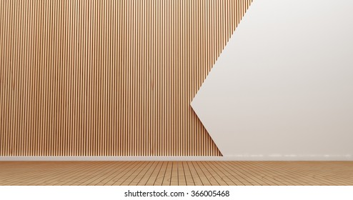 Interior design wall and art of wall style for modern interior 3d rendering images