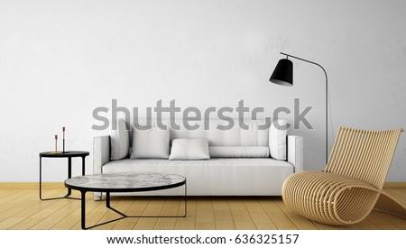 Interior Design Living Area Interior Design Empty Stockillustration