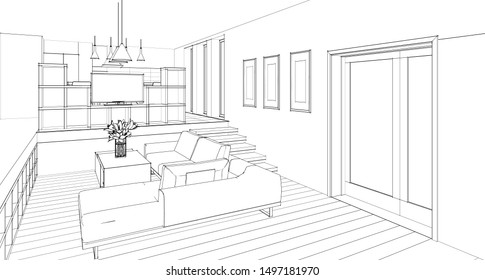 Dessin Chambre Images, Stock Photos & Vectors | Shutterstock
