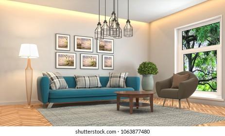 Real Photo Grey Sofa Green Cushion Stock Photo (Edit Now) 1163213872 ...